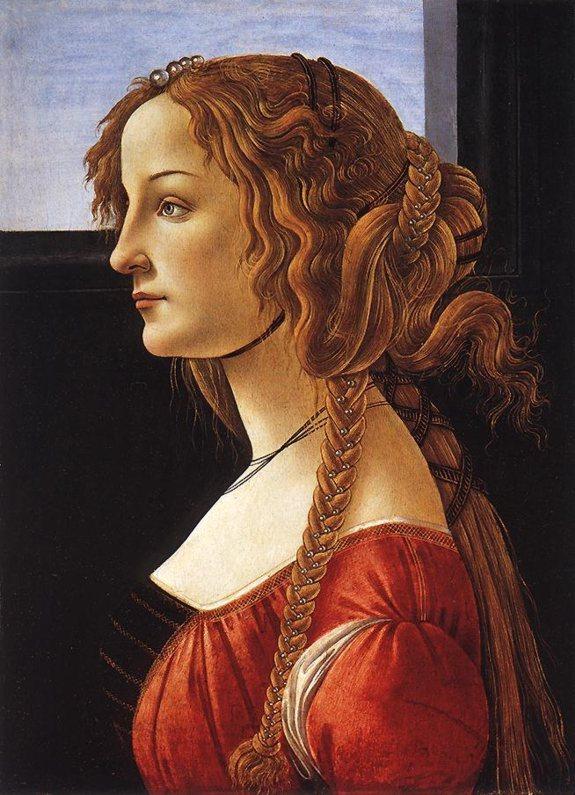 ... .1446-1510) – Portret młodej <b>kobiety</b> ( La bella Simonetta ), 1475