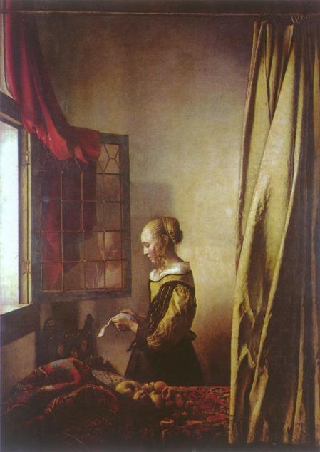 Vermeer van Delft Dziewczyna czytająca list u otwartego okna , 1657.